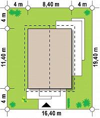 Минимальные размеры участка для проекта Z254