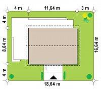 Минимальные размеры участка для проекта Z255 a