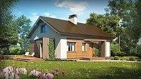 Вариант исполнения проекта дома Z255 a