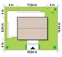 Минимальные размеры участка для проекта Z255