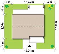 Минимальные размеры участка для проекта Z256