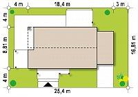 Минимальные размеры участка для проекта Z258 GP