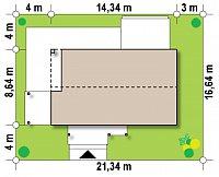 Минимальные размеры участка для проекта Z258