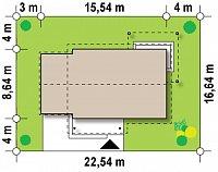 Минимальные размеры участка для проекта Z259