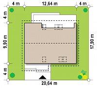 Минимальные размеры участка для проекта Z261 v1