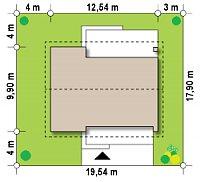 Минимальные размеры участка для проекта Z261