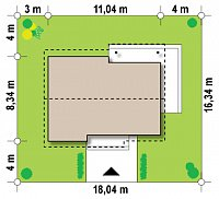 Минимальные размеры участка для проекта Z262