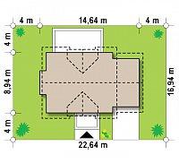 Минимальные размеры участка для проекта Z263