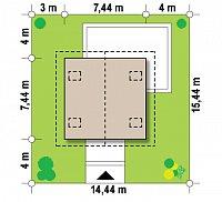 Минимальные размеры участка для проекта Z264