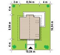 Минимальные размеры участка для проекта Z265