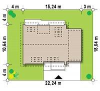 Минимальные размеры участка для проекта Z266