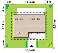 Минимальные размеры участка для проекта Z267