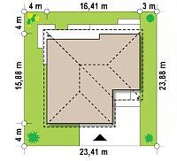 Минимальные размеры участка для проекта Z268