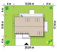 Минимальные размеры участка для проекта Z269