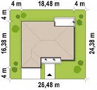 Минимальные размеры участка для проекта Z26