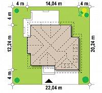 Минимальные размеры участка для проекта Z270
