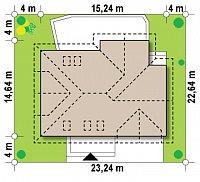 Минимальные размеры участка для проекта Z272
