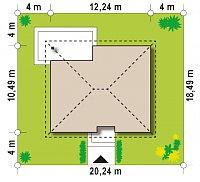 Минимальные размеры участка для проекта Z273 Ph+ st