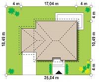 Минимальные размеры участка для проекта Z273 a L GL