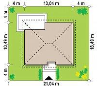 Минимальные размеры участка для проекта Z273 a