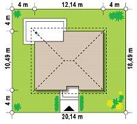 Минимальные размеры участка для проекта Z273