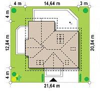 Минимальные размеры участка для проекта Z275