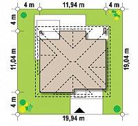 Минимальные размеры участка для проекта Z278