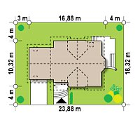 Минимальные размеры участка для проекта Z28 GL