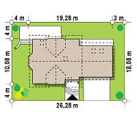Минимальные размеры участка для проекта Z28 L GP2