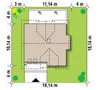 Минимальные размеры участка для проекта Z28 v2
