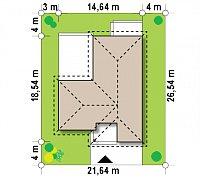 Минимальные размеры участка для проекта Z280
