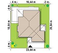 Минимальные размеры участка для проекта Z281