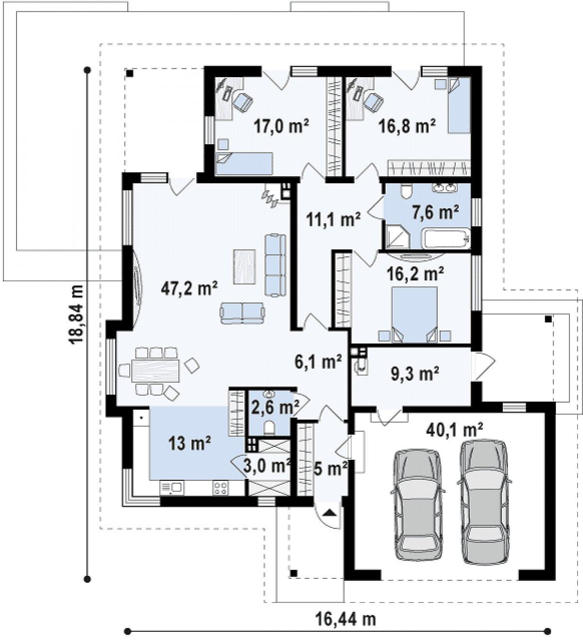 Первый этаж 149,1(189,2м²) дома Z281