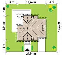 Минимальные размеры участка для проекта Z283