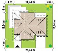 Минимальные размеры участка для проекта Z284