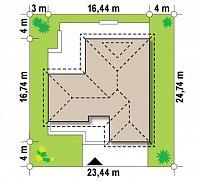 Минимальные размеры участка для проекта Z285