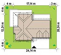 Минимальные размеры участка для проекта Z286