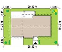 Минимальные размеры участка для проекта Z287 GL2