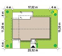 Минимальные размеры участка для проекта Z287