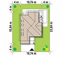 Минимальные размеры участка для проекта Z288