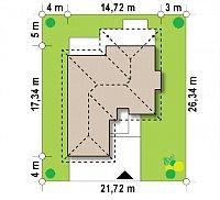 Минимальные размеры участка для проекта Z289
