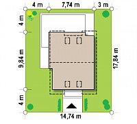 Минимальные размеры участка для проекта Z290