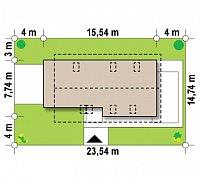 Минимальные размеры участка для проекта Z292