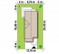 Минимальные размеры участка для проекта Z293