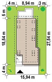 Минимальные размеры участка для проекта Z294