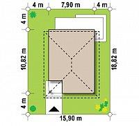 Минимальные размеры участка для проекта Z295 k