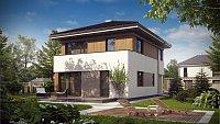 Типовой проект классического дома из кирпича Z295