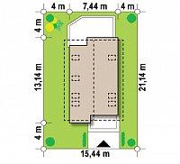 Минимальные размеры участка для проекта Z296