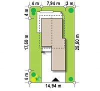 Минимальные размеры участка для проекта Z297 GF