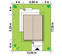 Минимальные размеры участка для проекта Z297